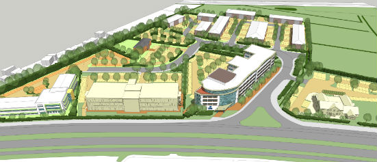 Artists Impression of Weston Gateway Business Park